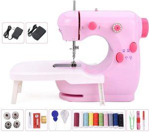 Mini-Sewing Machine with Extension Table