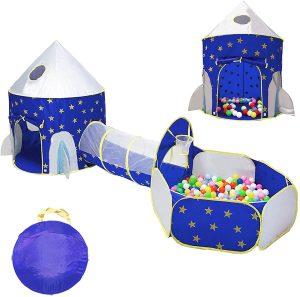Rocket Ship Kids Play Tent