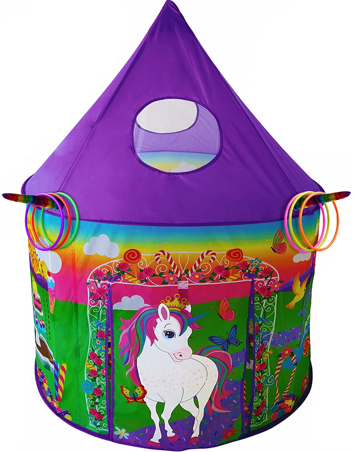 Tent with Unicorn Ring