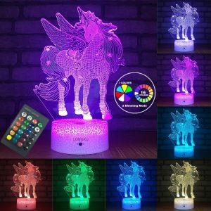 Unicorn Lamp Night