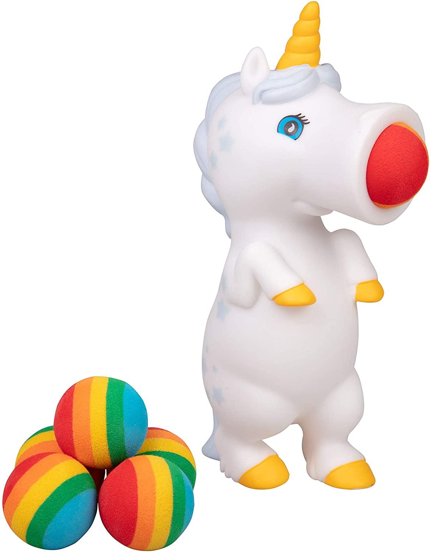 White Unicorn Popper Toy